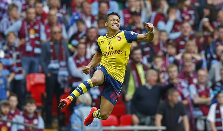 Arsenal, and Alexis', performance was almost faultless performance in the F.A. Cup final